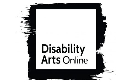 Disability Arts Online monochrome logo.