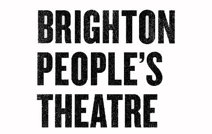 Brighton People's Theatre - a monochrome logo.